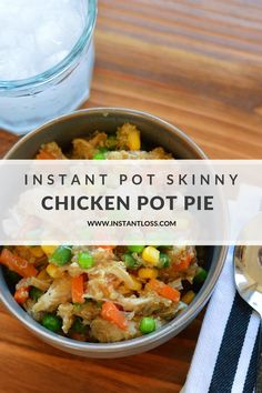 Instant Pot Skinny Crustless Chicken Pot Pie - Instant Loss - Conveniently Cook Your Way To Weight Loss Instant Pot Pressure Cooker, Pressure Cooker Recipes, Pressure Pot, Pressure Cooking, Whole30, Whole Food Recipes, Healthy Recipes, Blender Recipes, Healthy Dinners