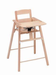 Chaise haute pliante en bois naturel Kid'or