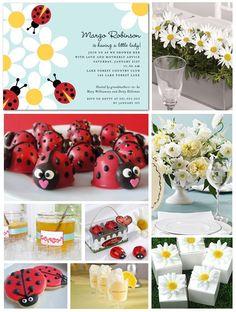 ladybug baby shower. my exact invites! :)