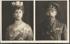The Royal Christmas card (in the form of a postcard) sent in 1914 by King George V and Queen Mary to the wounded, on which the special message expressed good wishes for their recovery. The photograph of the King shows him in khaki. Royal Archives © 2009 Her Majesty Queen Elizabeth II