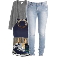 A fashion look from December 2014 featuring Monki cardigans, River Island tops and Louis Vuitton tote bags. Browse and shop related looks.