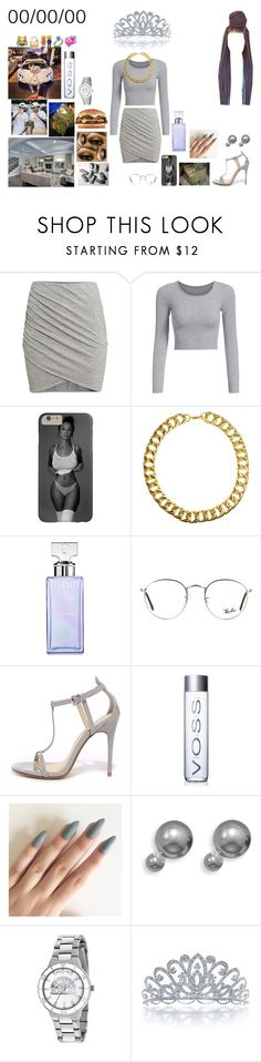 """""""Birthday Girl"""" by goldsouls ❤ liked on Polyvore featuring H&M, Gogo Philip, Junk Food Clothing, Calvin Klein, Ray-Ban, Chinese Laundry, Game Time and Bling Jewelry"""