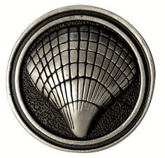 2 inch solid pewter nautilus shell knob antique white finish