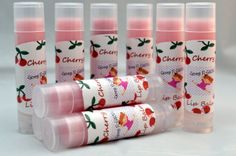 Lip Balm with Nourishing Oils, Cherry Chapstick - pinned by pin4etsy.com