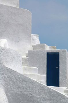 Blue Door in Greece 8x10 inch print by ArtAndPhotography on Etsy