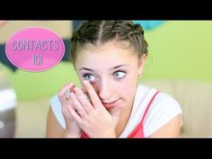 How to Put In Contact Lenses | Contacts 101 with Brooklyn - YouTube