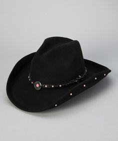 Black Baby Jane Wool Cowboy Hat - Kids Black Cowboy Hat 50d17ec70020