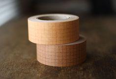 kraft graph grid tape
