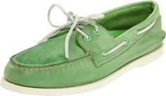 Groom, Groomsmens, Father of the Bride Shoes.  Sperry Top-Siders Burnished Boat Shoe, Key Lime