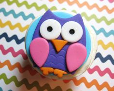 Owl Cupcake topper custom fondant toppers by AppleBlossomCupcakes, $18.00