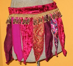Dancing Gaia Golden Garnet Belly Dance Belt Festival by ArtToGo, $45.00