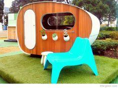 Bondville: Caravan cubby house from Little Green Room