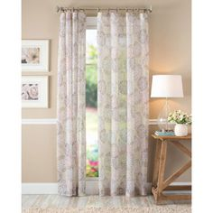 Better Homes and Gardens Floral Blossom Curtain Panel, Ivory