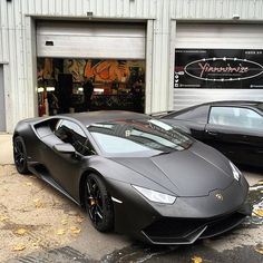 Instagram media by yiannimize - Busy monday today, and this Huracan wrapped in satin black ready to go soon! #lamboseverywhere #lamborghini #yiannimize #wrapkings
