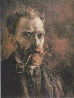 Van Gogh - Selbstbildnis mit Pfeife, 1886