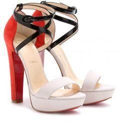 Christian Louboutin Summerissima Crisscross Platform Sandals