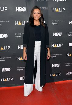 Pin for Later: Here's Our Wish List For Eva Longoria's New Fashion Line A Pair of Wide-Legged Pants And a long blazer. We need to stay on trend!