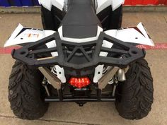 New 2016 Polaris Scrambler 850 White Lightning ATVs For Sale in Texas.