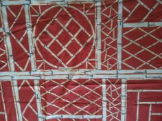 Bob Collins and Sons Chinoiserie Lattice red Lyford Trellis