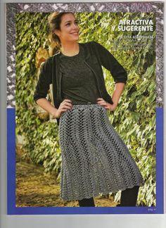 Pretty skirt pattern ~ Crochet e Moda