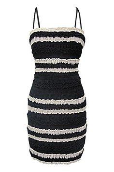 Yoana Baraschi Stretch dress in Black/Ivory