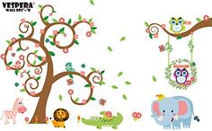 Vespera Giant Wall Decals for Kids Rooms, Nursery, Baby, Boys & Girls Bedroom - Peel & Stick, Large Removable Vinyl Wall Stickers - Sticker of Tree, Cute Animals, Owl and Colorful Flowers Vespera http://www.amazon.com/dp/B01D4DJF3M/ref=cm_sw_r_pi_dp_sbk9wb1VY3GDJ