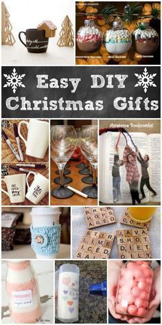 Easy DIY Christmas Gifts! Great ideas for handmade Christmas gift ideas.