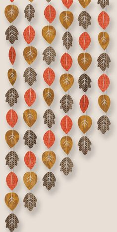 Fall Garland.... could get students to create chains collaboratively to decorate the classroom windows.