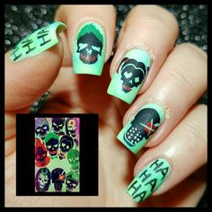 Suicide Squad #suicidesquad nails
