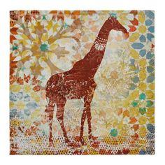 Tribal Giraffe Canvas Art Print   Kirklands