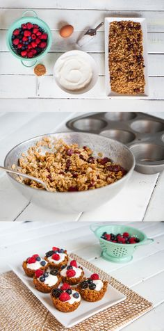 #GlutenFree Fruit and Yogurt Granola Cups l #WhatTheHack!