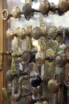 Would love to own a home with antique door knobs (or find a bunch and replace all the modern knobs)
