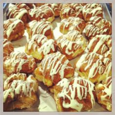 cinnamon twist muffins this morning along with bacon cheddar biscones cinnamon sticky buns and great coffee #Padgram