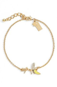kate spade new york 'things we love - top banana' line bracelet available at #Nordstrom