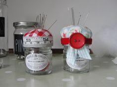 Bettyjoy tutorials: Jam Jar Pincushions