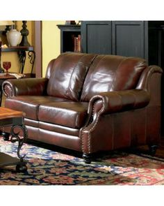 Coaster Furniture  Princeton Leather Love Seat with Nail Head Trim Free shipping and NO Sale Tax Coupon code discount 20% off 1234567 $: 879