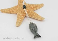 Pesce collana  catena in argento sterling di FirepanJewellery #integritytt #etsysocial