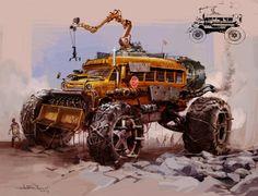 Zombie World School Bus Mad Max, Post Apocalyptic Art, Wheels On The Bus, Transformers Art, Zombie Apocalypse, Apocalypse Games, Armored Vehicles, Black Women Art, Dieselpunk