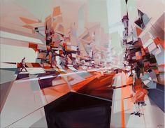 'meeting point' 70x90cm acrylic on canvas by robert proch, via Behance
