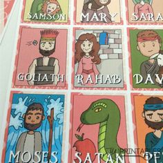 Bible Character Guess Who Game - JW Printables Jw Printables, Printable Board Games, Games For Kids, Games To Play, Jw Bible, Character Base, Printed Pages, Kids Church, Original Song