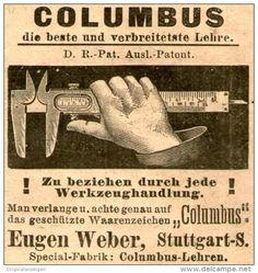 """Original-Werbung/ Anzeige 1905 - LEHRE """"COLUMBUS"""" / EUGEN WEBER - STUTTGART - ca. 45 x 45 mm"""