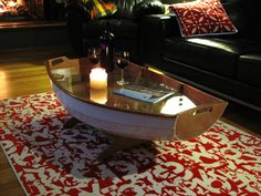 I love this idea for my coffee table! Anyone have an old dory/boat they don't want?