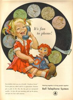 Pete Hawley - vintage telephone advertisement
