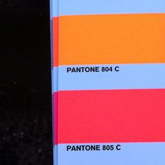neons are going to be all over this summer. check out pantone 805 C. my new favorite color.