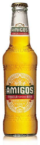 Amigos Tequila Flavoured Beer. I've had bourbon beer, not so sure this is a good idea.