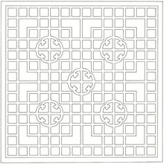 Chinese trellis, from the New Book of Chinese Lattice Designs, Daniel Sheets Dye Geometric Patterns, Wood Patterns, Textures Patterns, Quilt Patterns, Chinese Style, Chinese Design, Traditional Chinese, Chinese Paper Cutting, Chinese Interior