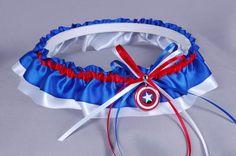 Captain America Wedding Garter! Ben would love this !