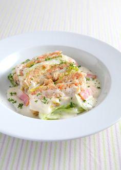 えびと白菜のミルフィーユ クリームシチュー仕立て のレシピ・作り方 │ABCクッキングスタジオのレシピ | 料理教室・スクールならABCクッキングスタジオ