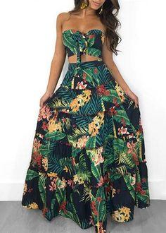 d14316fd592 Compre Conjunto Cropped e Saia Longa Floral com Babado