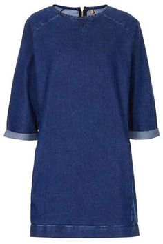 MOTO Denim Jumper Dress - Dresses  - Clothing